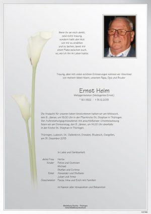 Portrait von Heim Ernst