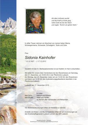 Portrait von Kainhofer Sidonia