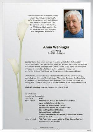 Portrait von Wehinger Anna