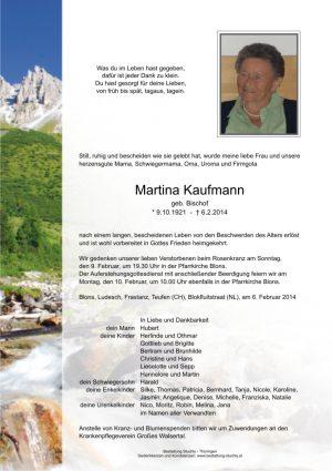Portrait von Kaufmann Martina