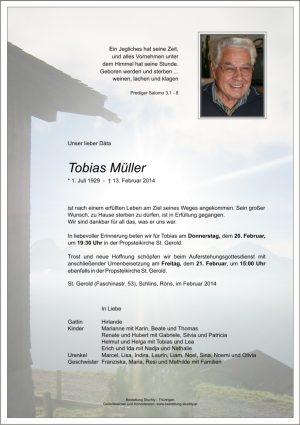 Portrait von Müller Tobias