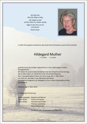 Portrait von Muther Hildegard