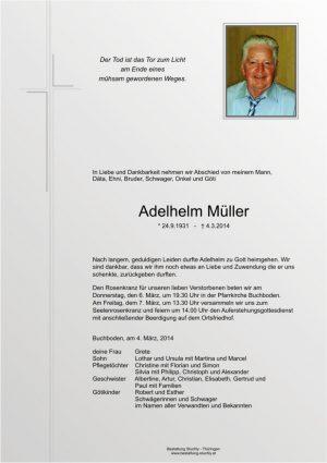 Portrait von Müller Adelhelm