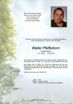 Portrait von Pfefferkorn Walter
