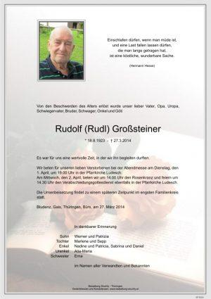 Portrait von Großsteiner Rudolf