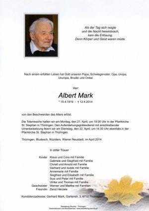 Portrait von Mark Albert