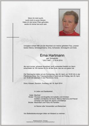 Portrait von Hartmann Erna