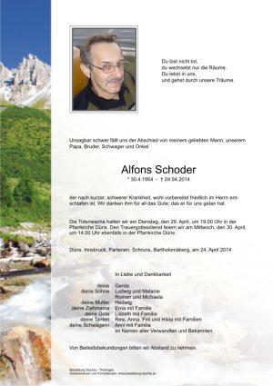 Portrait von Schoder Alfons
