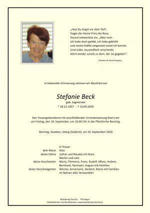 Portrait von Beck Stefanie