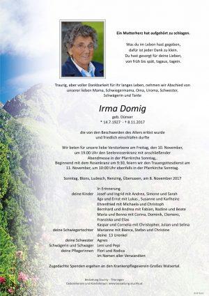 Portrait von Domig Irma