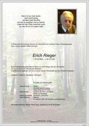 Portrait von Erich Rieger