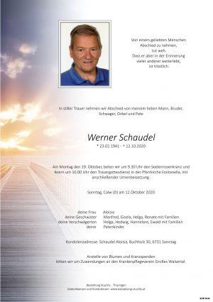 Portrait von Schaudel Werner