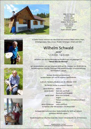 Portrait von Schwald Wilhelm