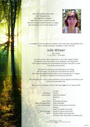Portrait von Witwer Julia