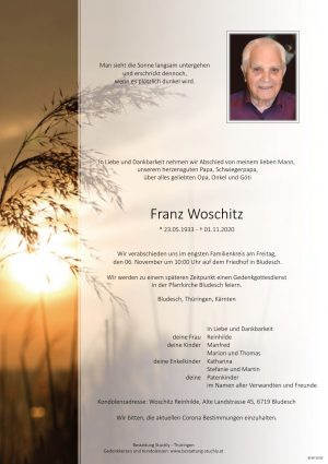Portrait von Franz Woschitz