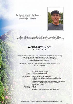 Portrait von Zizer Reinhard